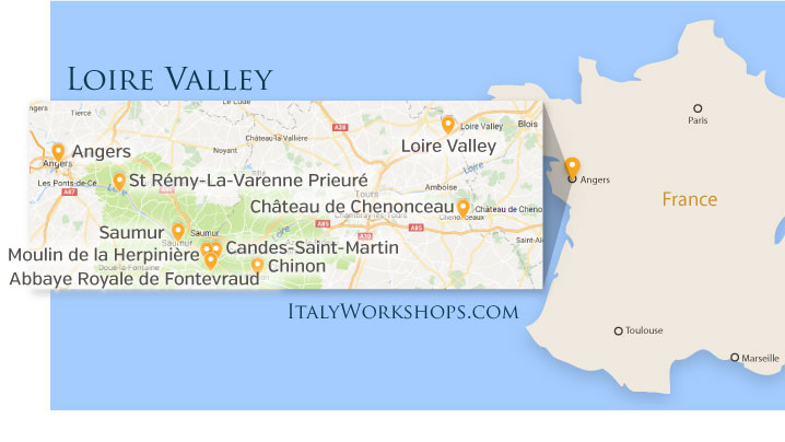 loire valley photo tour itinerary map
